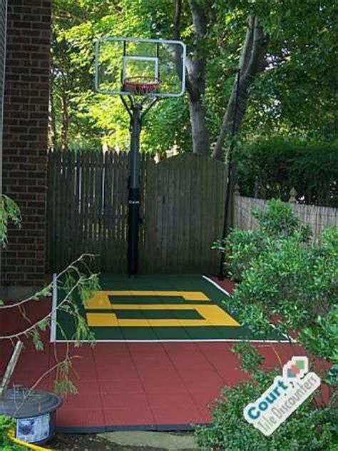 small backyard basketball court contemporary home gym