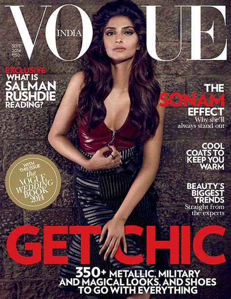 Latest Vogue Cover by Sonam Kapoor Stands Out In Hot Ensemble On Vogue Cover