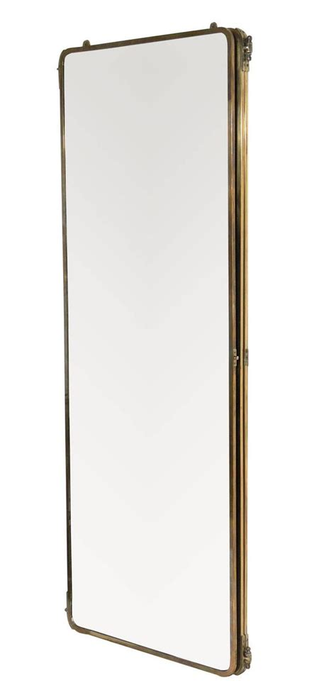1930s length brass folding mirror for sale at 1stdibs