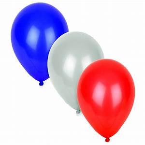 Ballon Bleu-Blanc-Rouge – Assortis – D 30CM : La Clowneraie