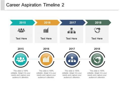 career aspiration timeline  powerpoint