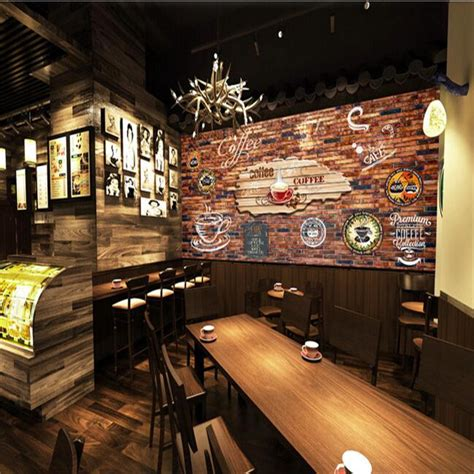 d馗o cuisine vintage custom size photo 3d stereo retro wallpaper graffiti brick bar cafe restaurant background wall mural wallpaper in wallpapers from home improvement
