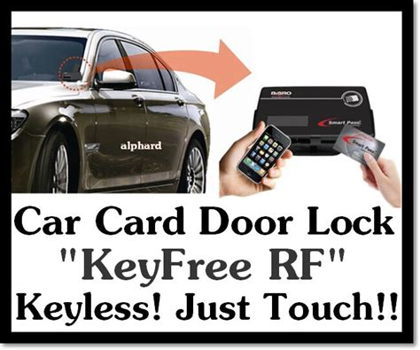 Vehicle Car Card Door Lock Digital Touch Keyless System