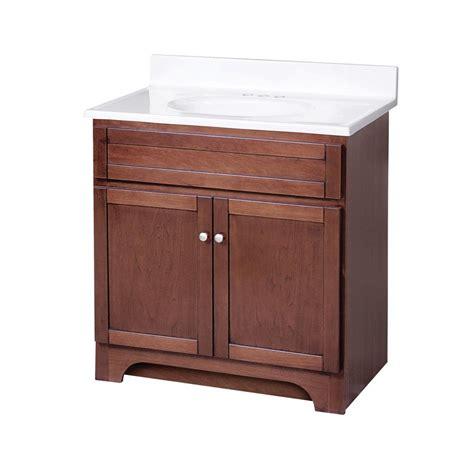 foremost 30 quot columbia single sink bathroom vanity cherry