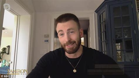 Chris Evans squirms when he's grilled about accidentally ...