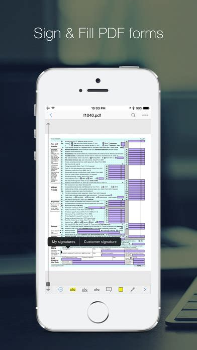 sign a pdf on iphone pdf reader pro edition annotate edit sign pdfs on the