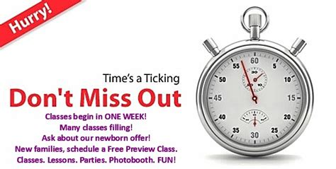 classes week enroll today