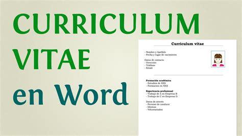 como hacer  curriculum vitae en word ejemplos de modelo