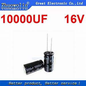 3pc  Lot 10000uf 16v Electrolytic Capacitor Size 16x30mm
