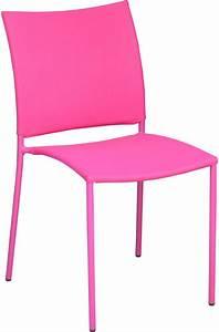 Chaise De Jardin Design : chaise de jardin design bonbon lot de 6 framboise ~ Teatrodelosmanantiales.com Idées de Décoration