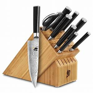 Shun, Classic, Knife, Block, Set, 10, Piece