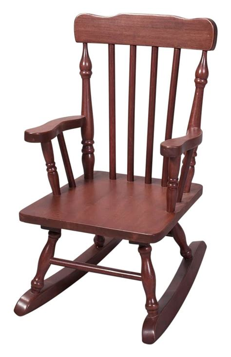 colonial style wood rocking chair w cherry finish