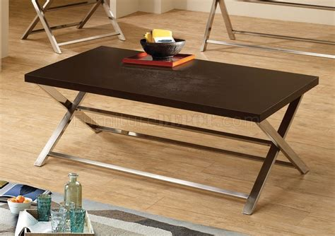 701698 3pc Coffee Table Set By Coaster W/cappuccino Top