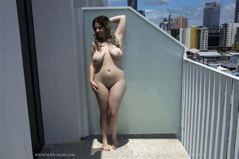 Avalon Balcony Flasher Nude Muse Curvy Erotic
