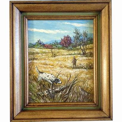 Signed Oil Painting Board Ruby Artist Lane