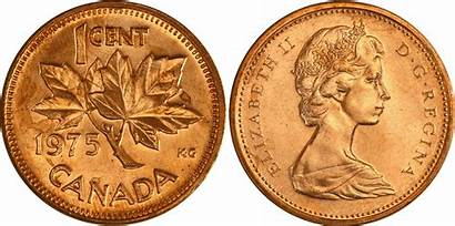 1975 Canadian Cent Penny Canada Coins Clipart