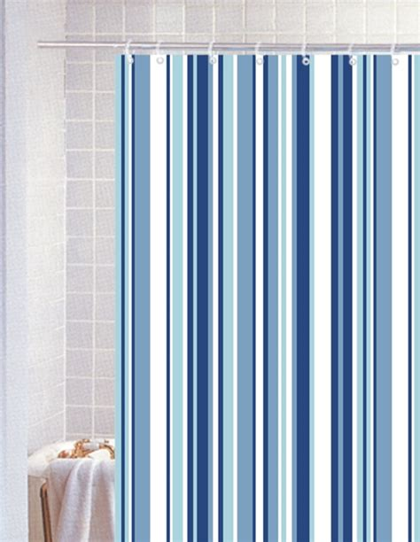 Extra Long Dining Room Table by Bathroom Striped Shower Curtains Stripe Blue Polyester