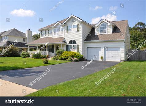 beautiful split level houses beautiful suburban split level mcmansion home stock photo