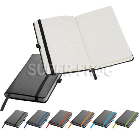 pu leather hard cover lined notebook notepad writing