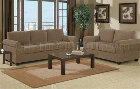 tan corduroy fabric modern sofa loveseat set wwooden legs