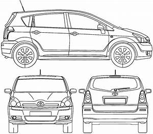 Toyota Verso Dimensions : 2004 toyota corolla verso minivan blueprints free outlines ~ Medecine-chirurgie-esthetiques.com Avis de Voitures