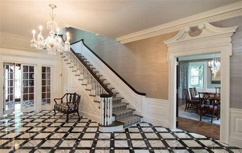 period georgian style home foyer renovation summit nj