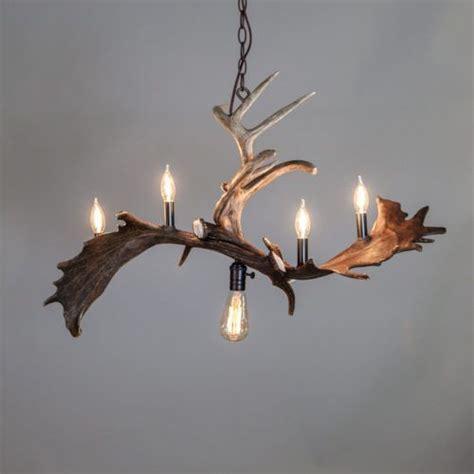 ouzel falls modern antler chandelier industrial rustic