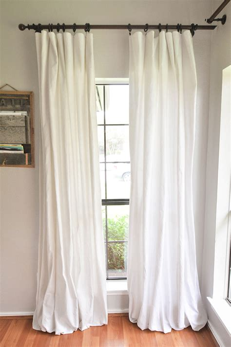 drop cloth curtains how to make no sew bleached drop cloth curtains our