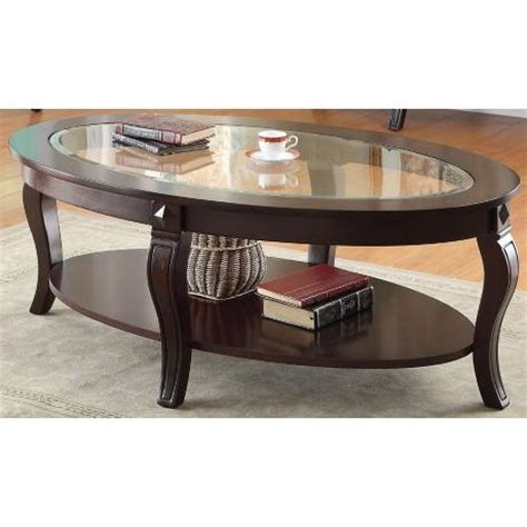 Couchtisch Nussbaum Oval by Coffee Table Oval Walnut Beveled Glass Top Living