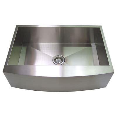 36 stainless steel sink 36 stainless steel zero radius kitchen sink curve apron