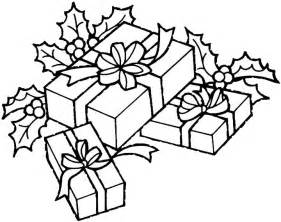 christmas gifts coloring pages to kids