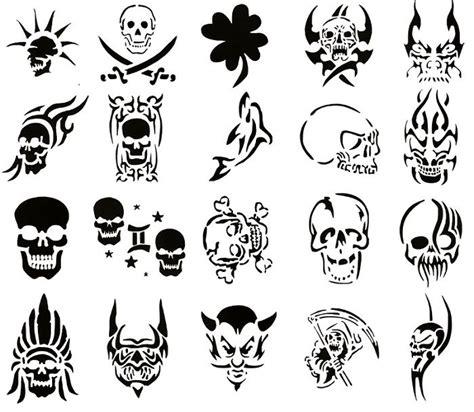 Modern Tattoo Stencils Skull Stencil Designs