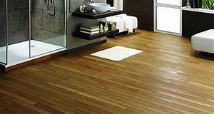 parquet pour salle de bain les 5 conseils deco cool With sol en teck salle de bain