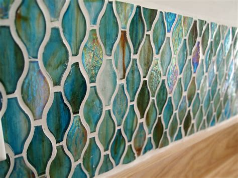 Kitchen Countertop Tiles Ideas - use broken jars or any jars to a backsplash