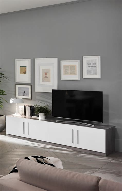 adria italian high gloss marble grey white tv stand cm