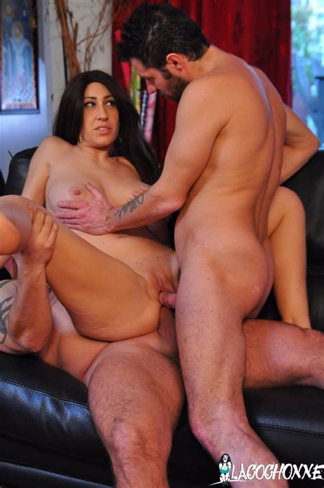 French Sexy Amateur Busty Babe Takes Rough Dp Threesome