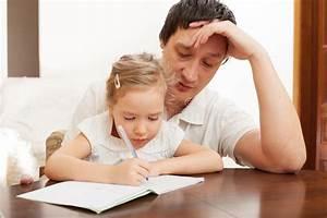 Dad Helping Daughter Doing Homework Stock Photography ...