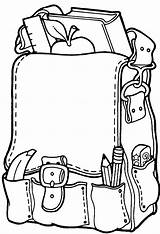 Backpack Coloring Pages Clipartpanda Clipart Printable Terms Preschoolers sketch template