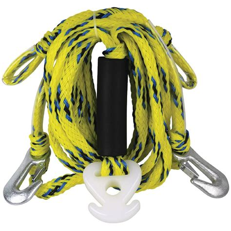 Boat Ski Harnes by 12 Ft Poly Rope Ski Tow Harness With Center Pulley