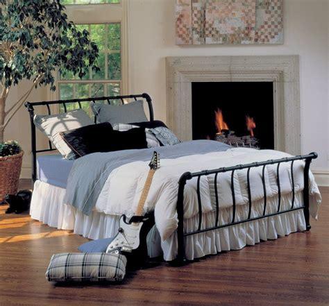 amazoncom hillsdale furniture bqr janis metal sleigh