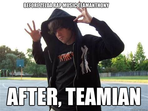 Rap Music Meme - before zelda rap music teamanthony after teamian cocky ian quickmeme