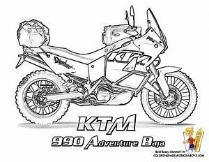 cool coloring motorcycles ktm 990 adventure http www With honda 50cc bike las