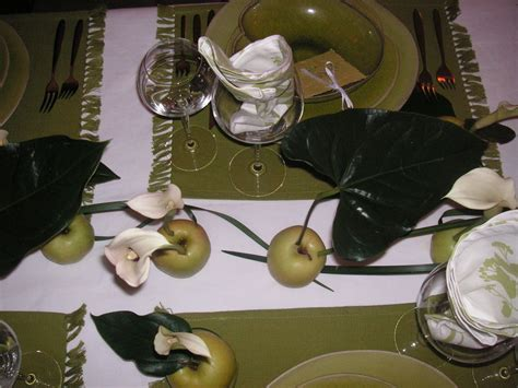 decoration avec une pomme table quot pomme pomme pomme quot a table c 244 t 233 d 233 co