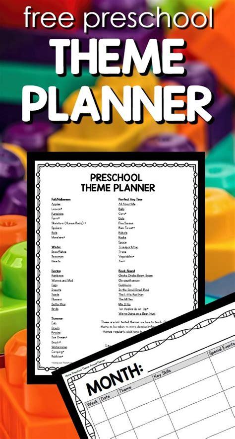 free preschool annual theme planner homeschool giveaways 987 | theme planner pin for FFL