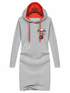 long sleeves words print logos cotton womens long hoodie With robe sweat adidas