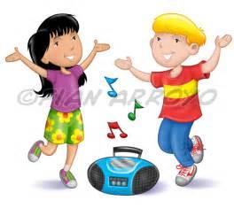 Cartoon Children Dancing