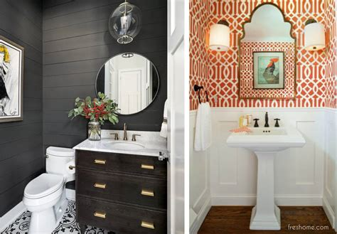 powder room ideas  transform  small  bath