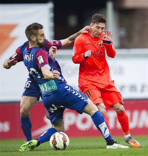 Takashi inui (eibar) left footed shot from outside the box is high and wide to the left. SD Eibar v FC Barcelona - La Liga - Zimbio