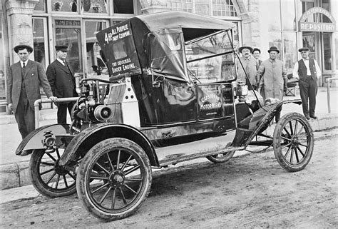 Boating Accident Haliburton by Salesman S Model T Ford Carries A Cushman Demo Engine