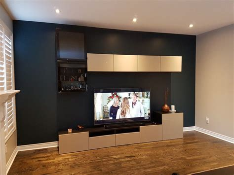 diy family room makeover  ikea besta wall units